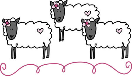 ewes: Sheep are docile natured animals and they are also very intelligent. Adult femalesheep are called ewes pick those designs by concord Illustration