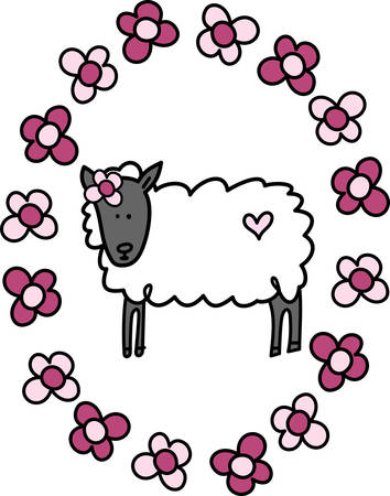 Sheep are docile natured animals and they are also very intelligent. Adult femalesheep are called ewes pick those designs by concord Illusztráció