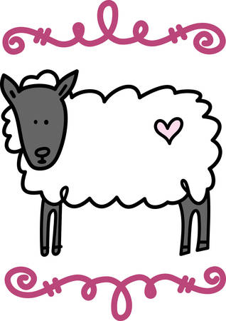 Sheep are docile natured animals and they are also very intelligent. Adult femalesheep are called ewes pick those designs by concord! Vektoros illusztráció