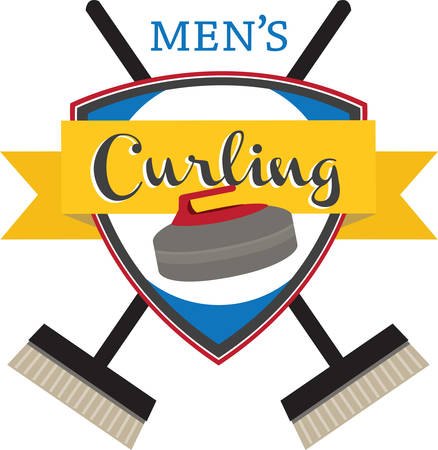 curling: Curling is an interesting sports competition sport. Illustration
