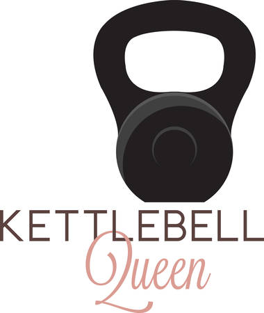 Kettle bells are cast iron weights resembling a cannonball with a handle. Stock fotó - 41353479
