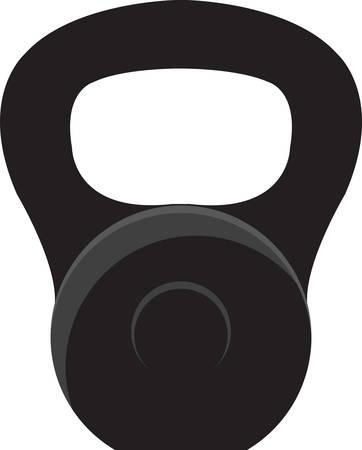 주전자 종은 손잡이가 달린 캐논볼과 같은 주철 무게입니다. 일러스트