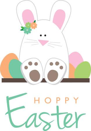 Gebruik dit konijntje voor uw gift van Pasen. Stock Illustratie