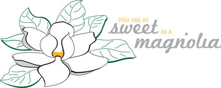 Use this magnolia flower for a southern touch. Ilustrace