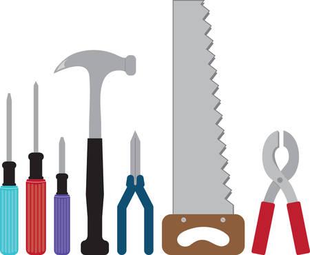 Utilice estas herramientas para su fixerupper favorito. Foto de archivo - 41353616
