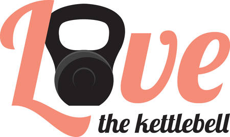 Kettle bells are cast iron weights resembling a cannonball with a handle. Illustration