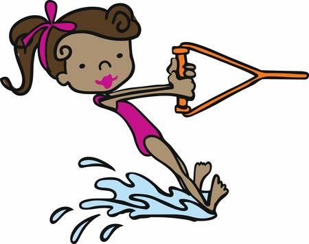 맨발 스키 (Barefoot ski)는 스릴 넘치는 물 게임으로 콩코드 컬렉션에서 이러한 디자인을 선택합니다.