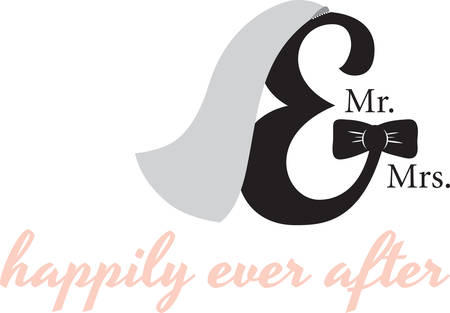 Use this monogram for an elegant bridal gift.