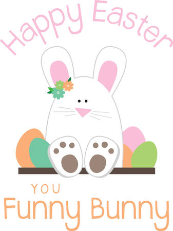 Use this Hoppy Easter bunny for a little child you love. Иллюстрация