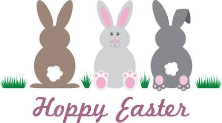 Deze konijntjeslijn is perfect voor een Pasen-grens.