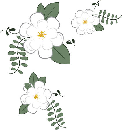 Use this floral corner for a napkin or towel. Ilustracja