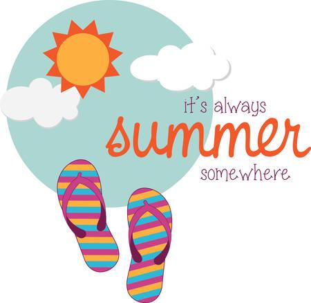 Use this summer design on a towel or tshirt. Иллюстрация