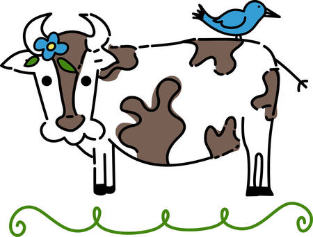 Cow cattle are the most common type of large domestical dairy animal for milk and other dairy products pick those designs by concord