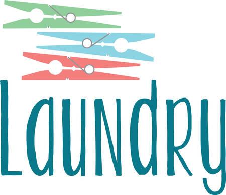 ここでは、服のラインに服を保護するためカラフルな洗濯はさみです。