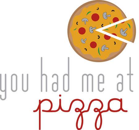 Gebruik deze pizza voor een Italiaans schort.