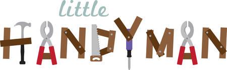 Use this handyman design for your favorite handyman.