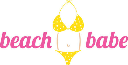 Use this bikini for a summer project.