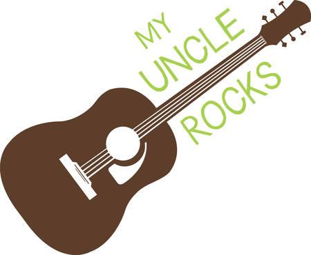 ギター ロックは、ティーンエイ ジャーのためのギフトに追加するこのデザインを得る。 彼らはそれを愛する。  イラスト・ベクター素材