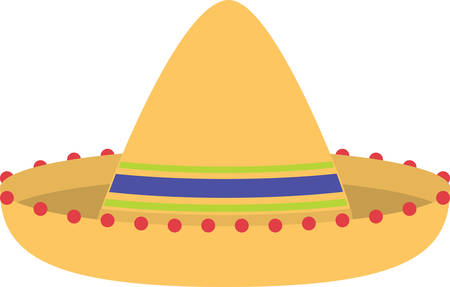 Here is a big broadbrimmed felt Sombrero for you Enjoy the Mexican feel Illusztráció