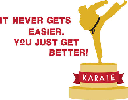 Are you into martial arts then this is the perfect design for you. Enjoy Karate Stok Fotoğraf - 41354243