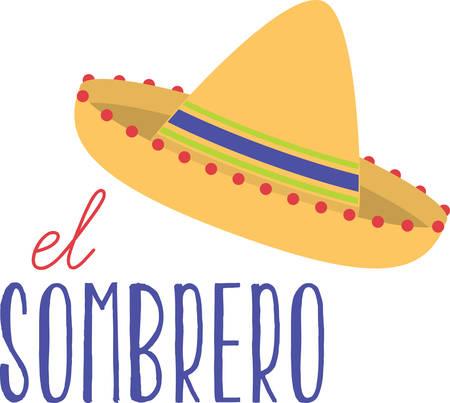 ここでは、大きな broadbrimmed ソンブレロを感じたは、メキシコの感触を楽しむ