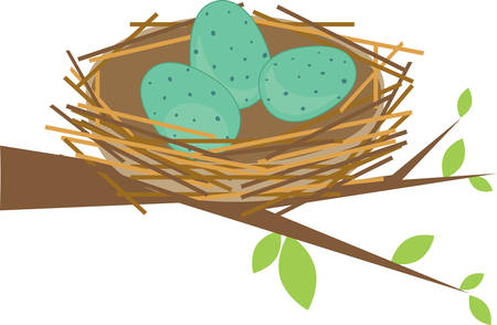 birder: This cute bird nest makes a perfect gift for a birder. Illustration