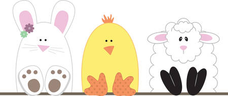 lining: Use these Easter characters for a fun basket lining.