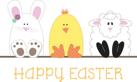 Use these Easter characters for a fun basket lining.