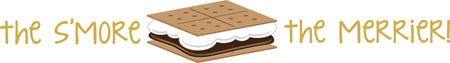Use this smore on a camping shirt for your favorite little camper. Ilustrace