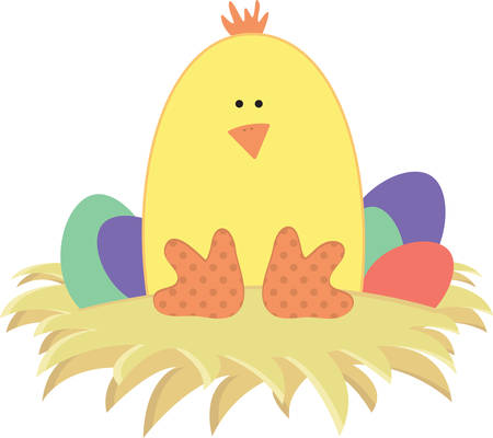 chick: Use this chick for a happy Easter project. Illustration