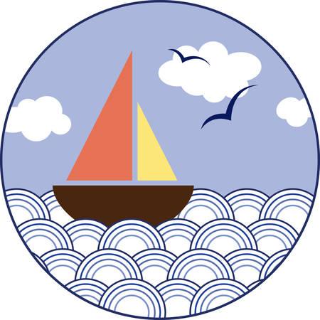帆は風をキャッチしてマストに拡張材料の一部