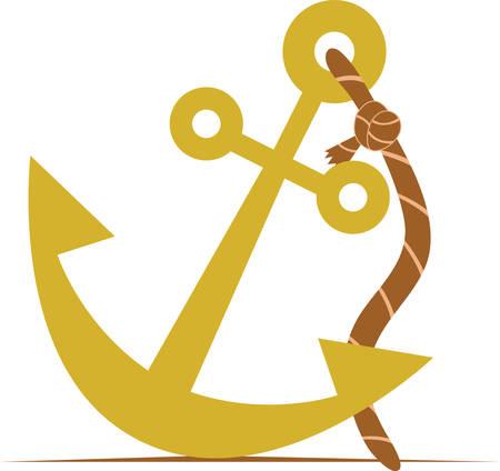 Moet noch een schip een beroep doen op een klein anker noch mag het leven rust op één hoop. Stockfoto - 41354479
