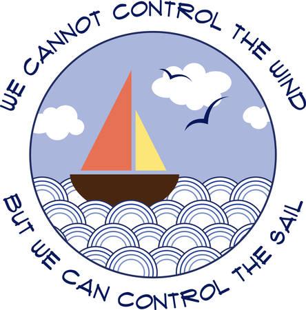 帆は風をキャッチしてマストに拡張材料の部分です。  イラスト・ベクター素材