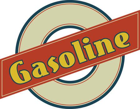 vind het verzamelen van benzine logos van eendracht ontwerpen Stock Illustratie