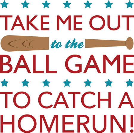 Use this baseball bat for your little slugger. Vector