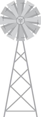 シャツや農場のシーンでこの風車を使用します。  イラスト・ベクター素材
