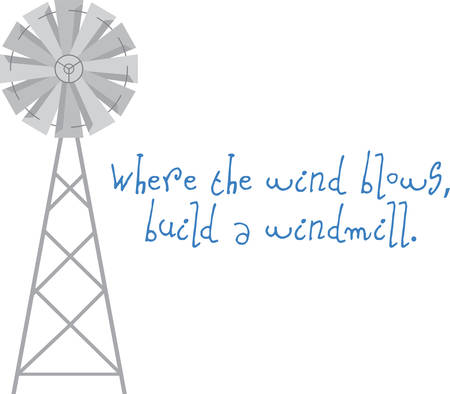 Use this windmill on a shirt or a farm scene.