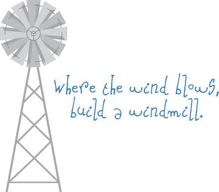 where: Use this windmill on a shirt or a farm scene.