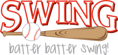 baseball swing: Use this baseball logo for your little slugger.