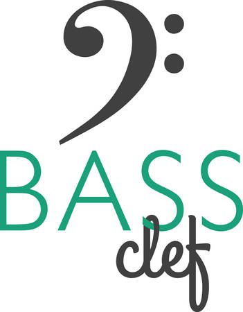 The bass clef is the first large symbol on the bottom staff or bass staff in piano music