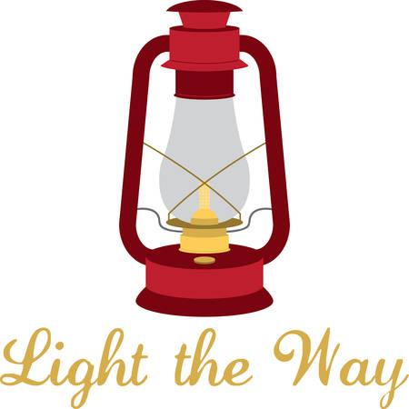 gas lamp: A vintage lamp is the perfect way to light your path.