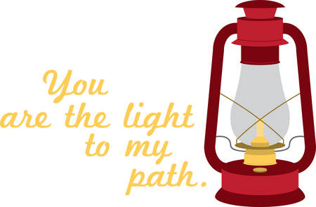 A vintage lamp is the perfect way to light your path.