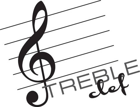 A clef is a musical symbol used to indicate the pitch of written notes designs by Concord