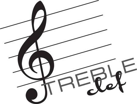 Una chiave è un simbolo musicale utilizzato per indicare il campo di note scritte, una creazione di Concord Archivio Fotografico - 41355036