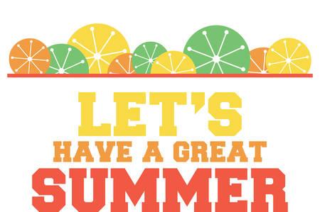 Verwenden Sie diesen Sommer Grenze für einen Spaß saisonale Projekt. Standard-Bild - 41355043