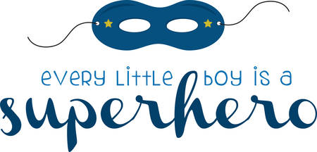 All little boys can be super heroes with a mask.