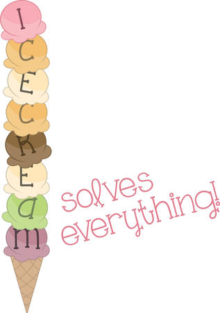 loves: Everyone loves ice cream and they can enjoy it with this delicious design. Illustration