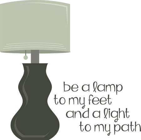 fixture: An elegant table lamp will make a great home decoration.
