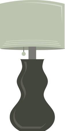 Een elegante tafellamp zal een grote home decoratie te maken.