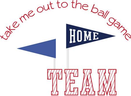 Root voor uw huis team met deze vlaggen Stockfoto - 41355176